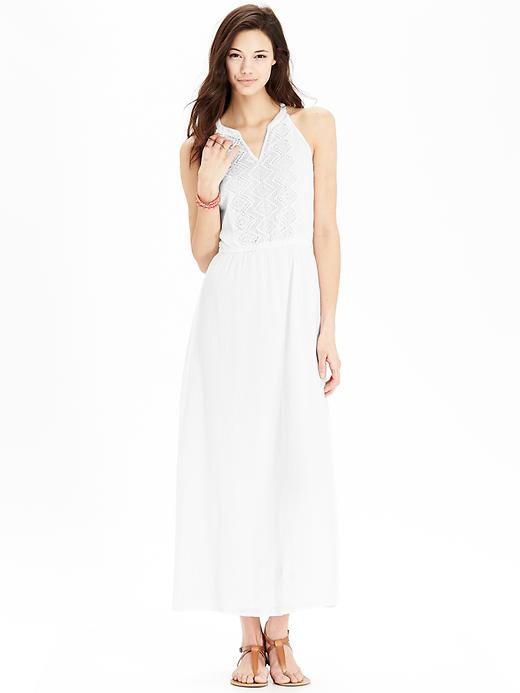 What to Wear to a White Party,  white-party-old-navy-maxi-dress