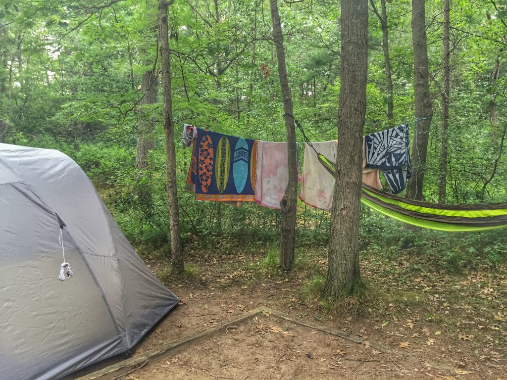 Pinery Provincial Park, Camping near the beach