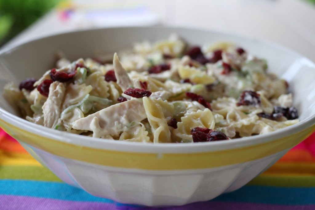 Cranberry Turkey Bowtie Salad