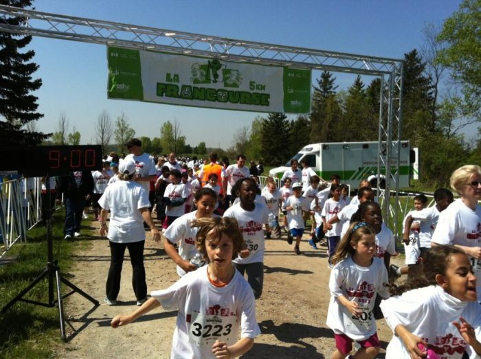 Francourse a 5km run for kids