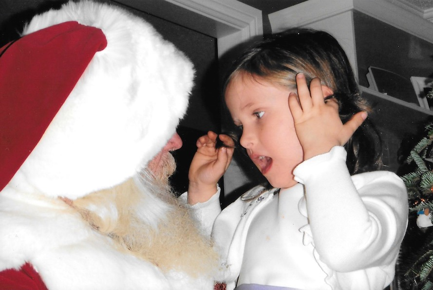 Believe Santa Claus, Full of wonder, this child believe in Santa Claus