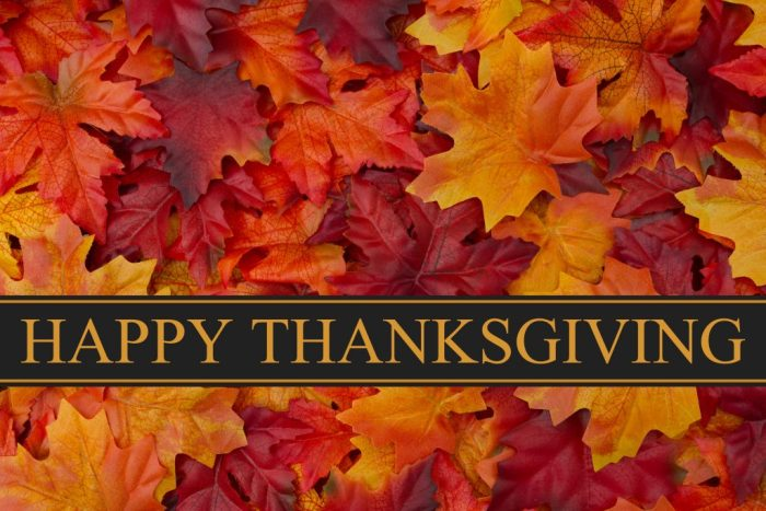 Happy Thanksgiving Autumn leaves Fall (Happy Thanksgiving Greeting, Fall Leaves Background and text Happy Thanksgiving)
