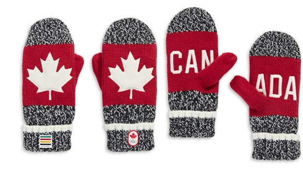 Hudson's Bay Canada Olympic mittens