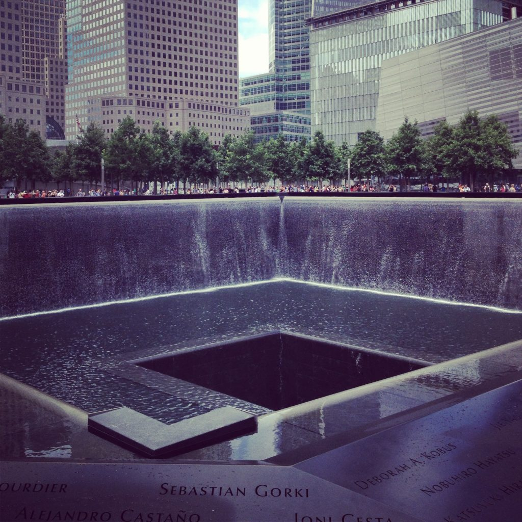 The Infinity Pools at the 9/11 Memorial.