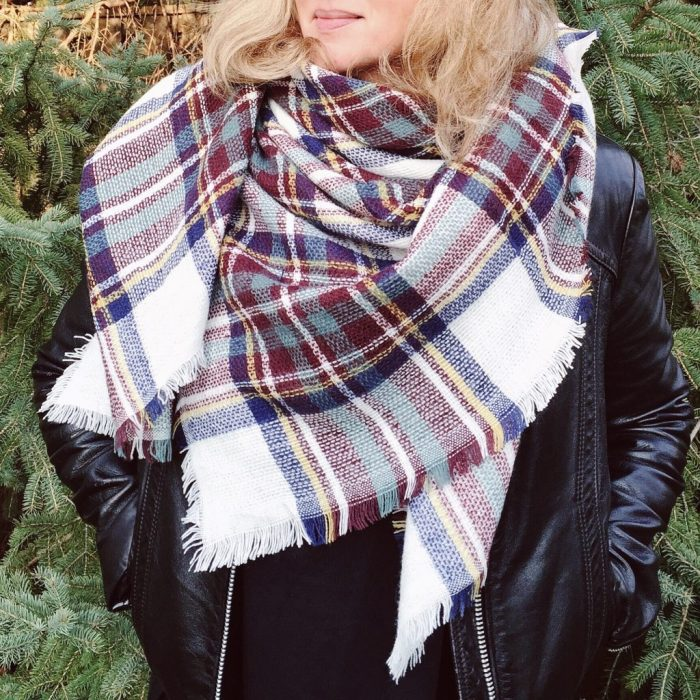 Olive and Arrow knit blanket scarf