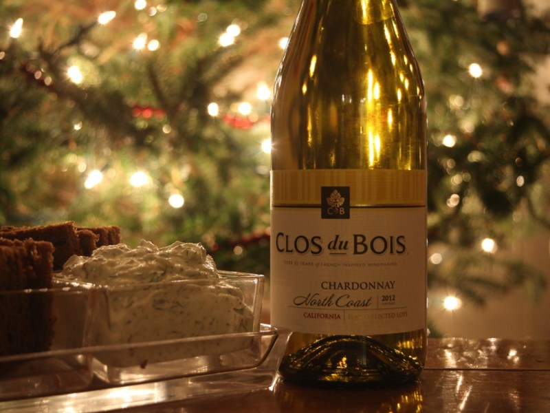 Clos du Bois wine with smoked salmon