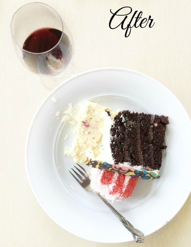 food photography tips and tricks, after photo of birthday cake