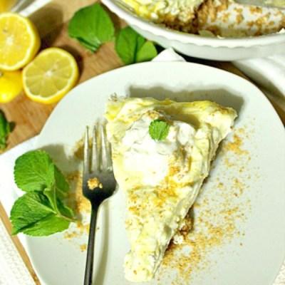 No-Bake Lemon Mousse Cheesecake