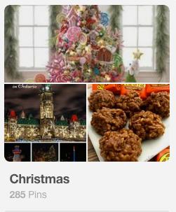 Pinterest Christmas Board