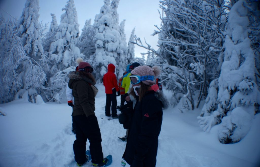 mont tremblant snowshoe and fondue