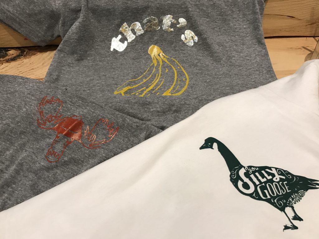 indoor activities in Tremblant, t-shirt making