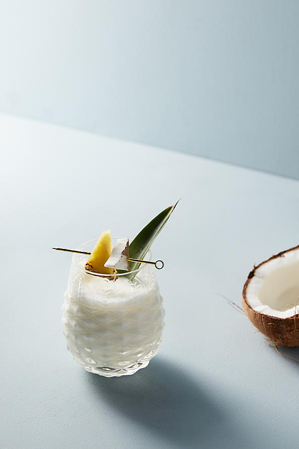 pineapple glass Anthropologie kick off summer Piña Colada