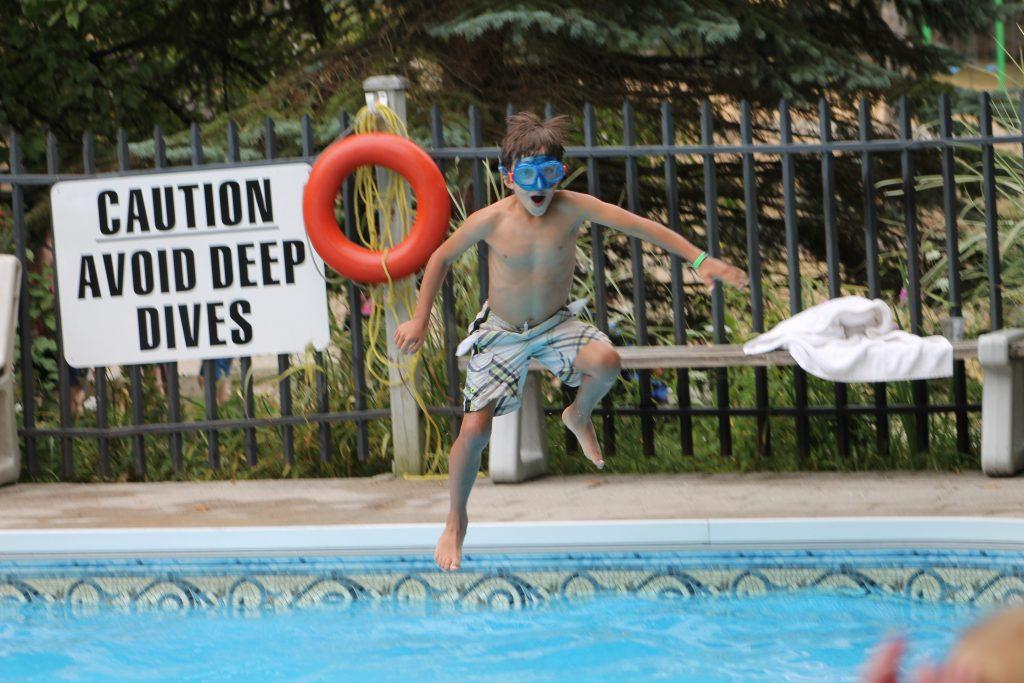 Swimming Pool at Delawana Resort