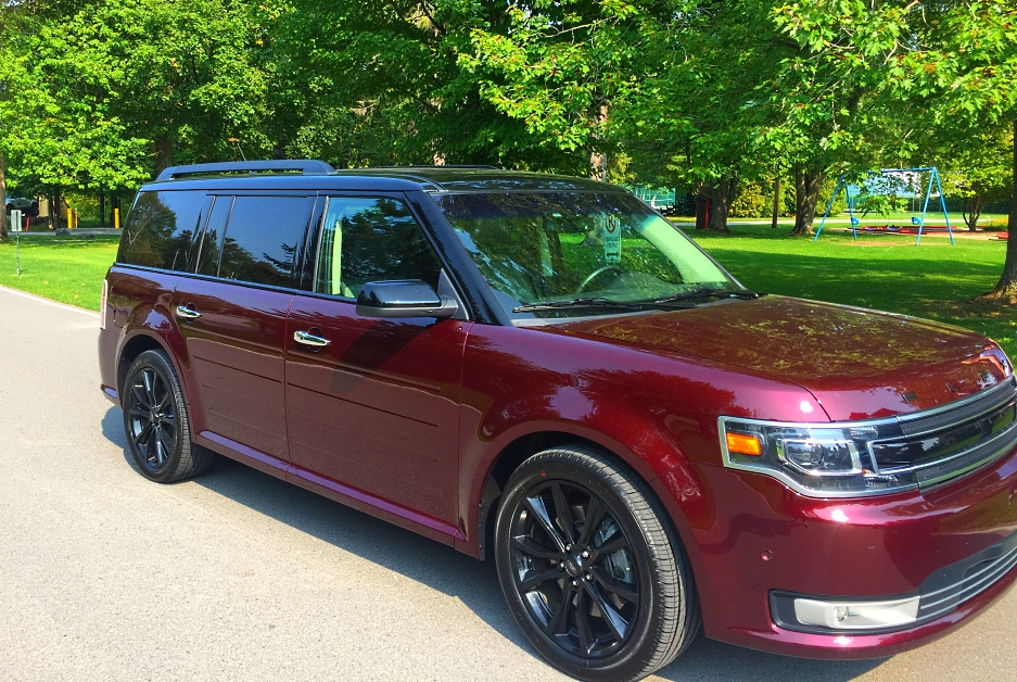 Burgundy 2017 Ford Flex