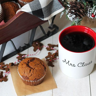 Gingerbread Muffins Made with Silk Almond Beverage
