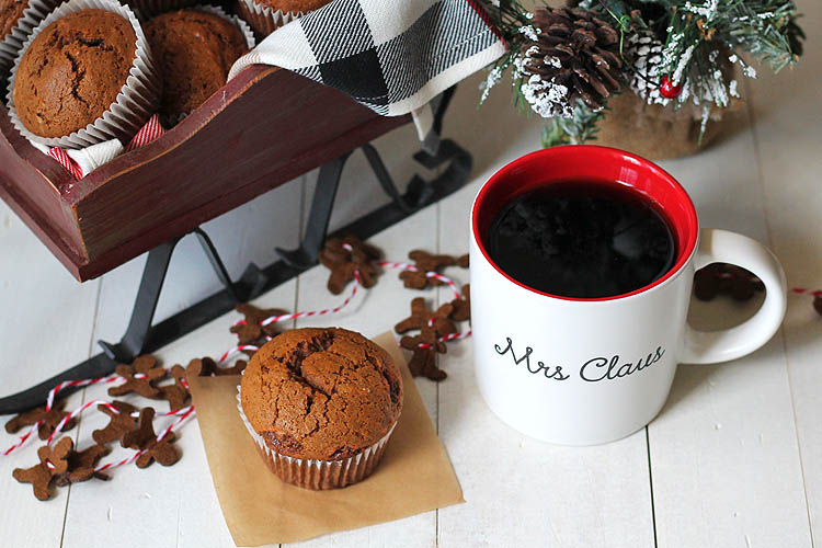 Gingerbread Muffins Made with Silk