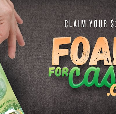 Claim Your $20 with Foam For Cash Before February 6, 2018