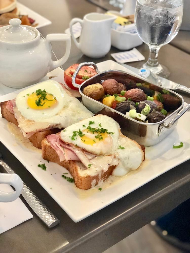 one day in Santa Barbara, breakfast at Hilton Santa Barbara