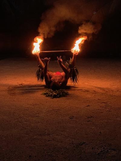 Tahiti good for families, fire dancer, polynesian culture, Tahiti men