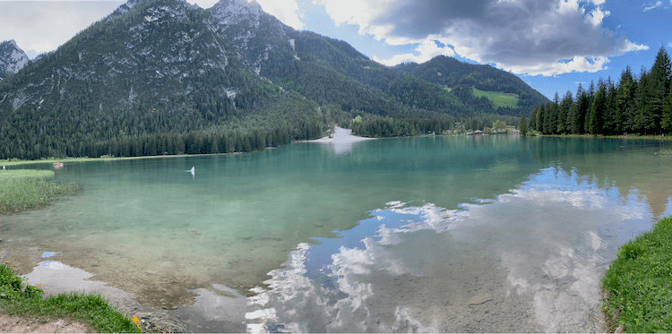 Hiking in Italy, Lago Di Dobbiaco, Lake Dobbiaco, South Tyrol