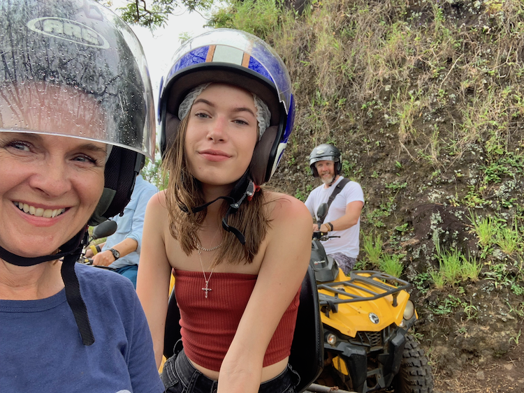Tips for travel with Teens, ATV in Moorea