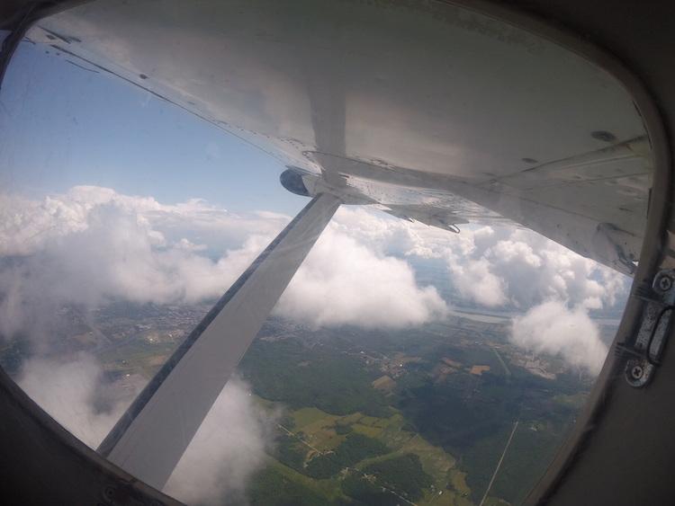 skydiving in Ottawa, plane shot