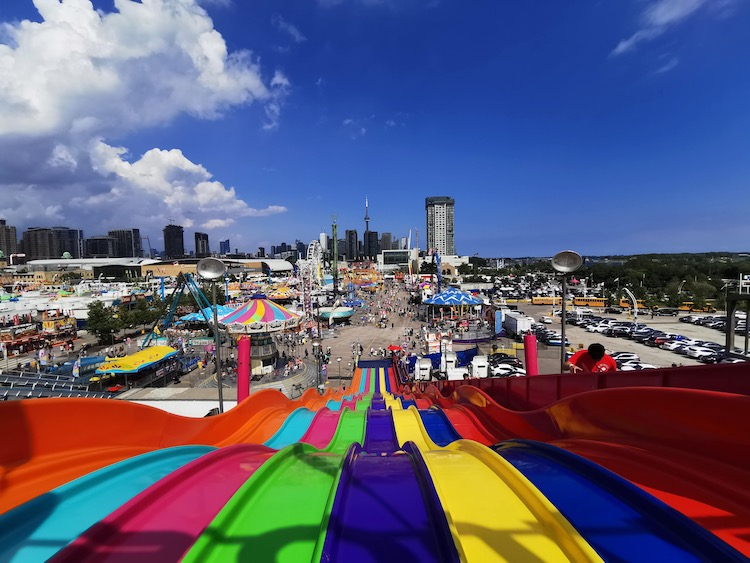 The Ex, View from top of the slides, Toronto fair, CNE, Toronto with Teens