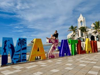 Mazatlan Sign on malecon