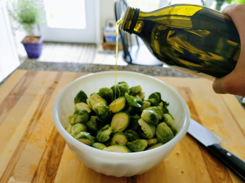brussels sprouts tossed with olive oil, air fryer brussels sprouts recipe