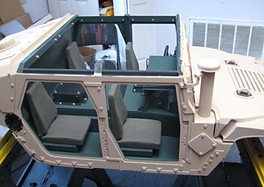Gamla Model Makers HMMWV 14 Scale Model Interior