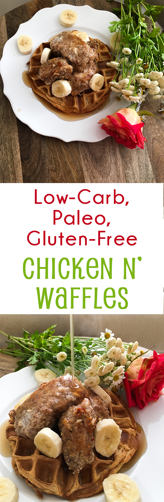 Paleo, Low Carb, Gluten Free Chicken n Waffles pinterest