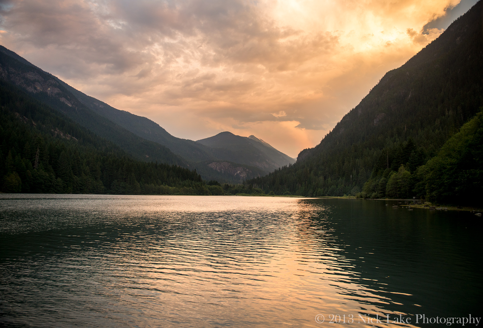 Diablo Lake Sunset North Cascades