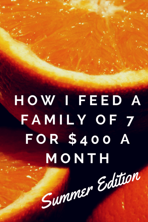 How I Feed a Family of Seven for $400 a Month – Summer Edition