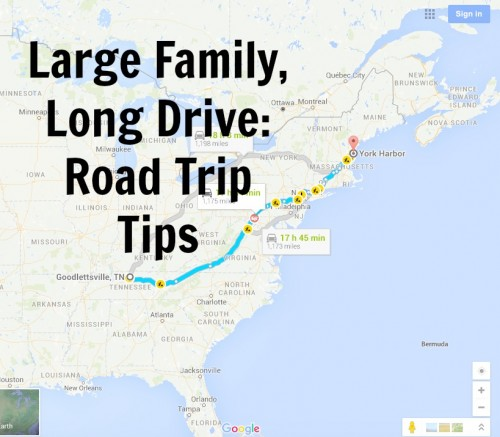 Large Family, Long Drive: Road Trip Tips