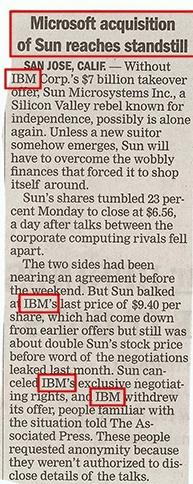 Microsoft is NOT acquiring Sun