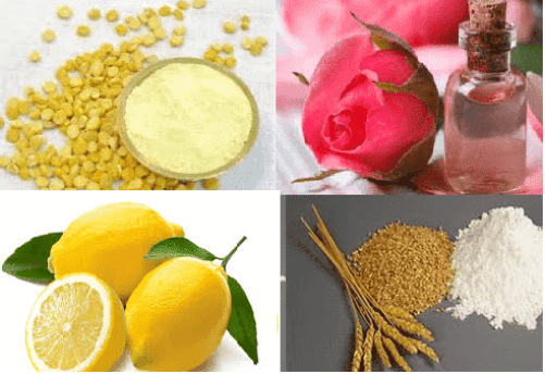 Gram Flour, Wheat Flour, Lemon and Rose Water Beauty Pack