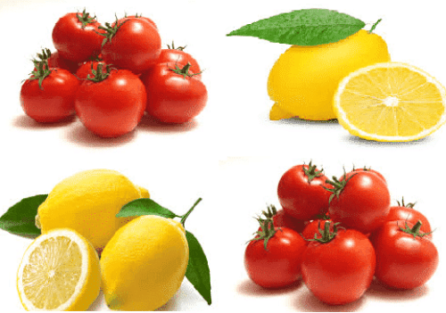 Lemon and Tomato bauty tips