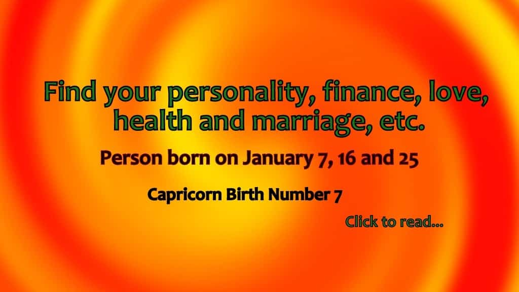 free numerology reading based on date of birth 16 january