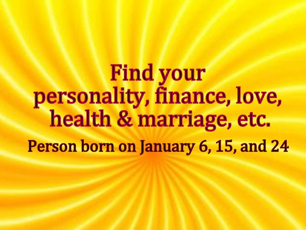 free numerology reading based on date of birth 6 january