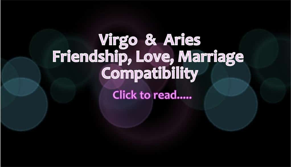Virgo man and aries woman love compatibility