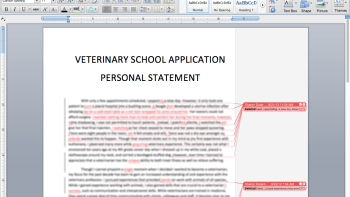 veterinary personal statement