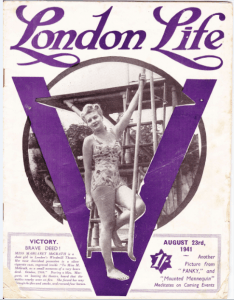 A cover from a 1941 issue of London Life