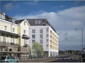 The proposed building Savoy Buildings site development. This image copyright McCarthy and Stone.