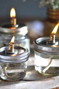 Mason Jar Oil Lamps - Life is a Party