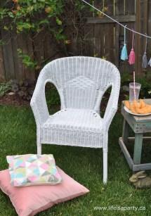 Spray-Paint Wicker Chair