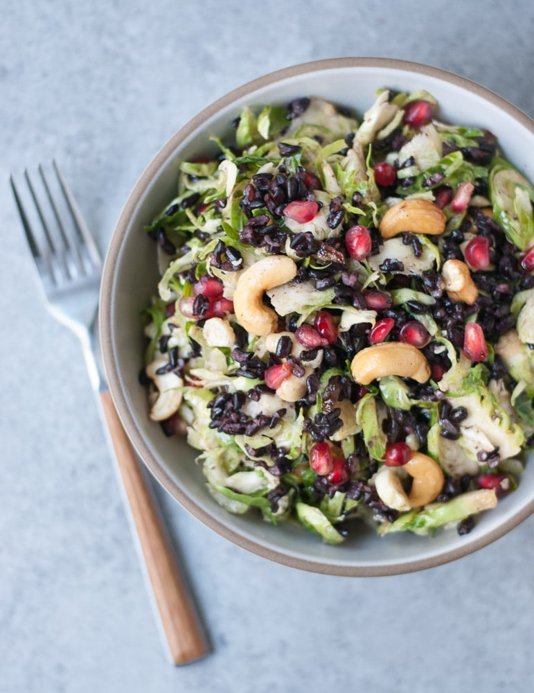 Shaved Brussels Sprouts Salad with Lemon Caper Dressing-5