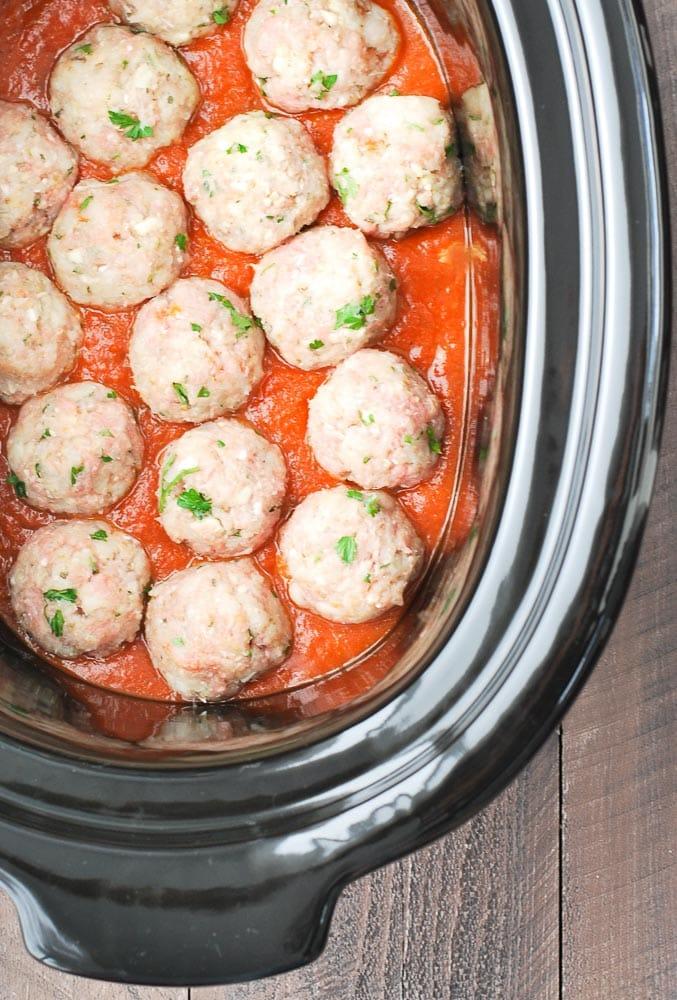 Slow Cooker Turkey Meatballs-2
