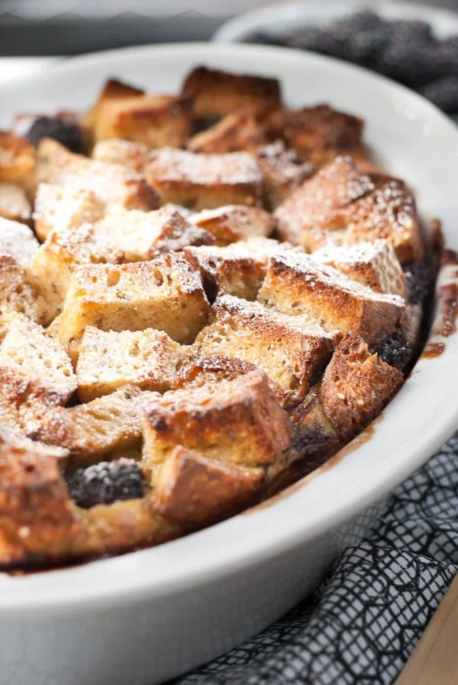 Baked Whole Grain Blackberry French Toast-3