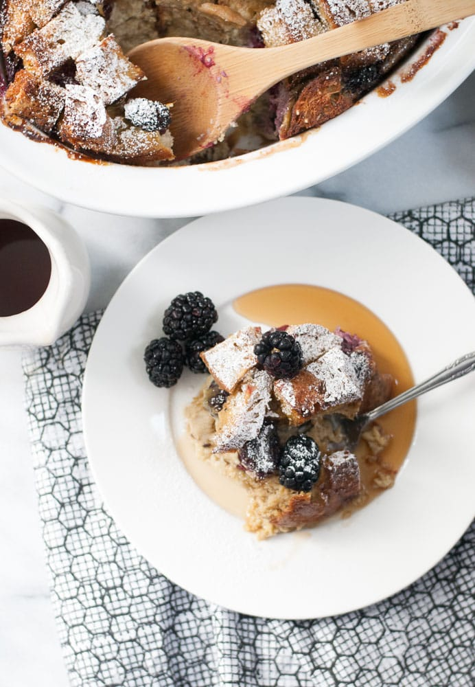 Baked Whole Grain Blackberry French Toast-8