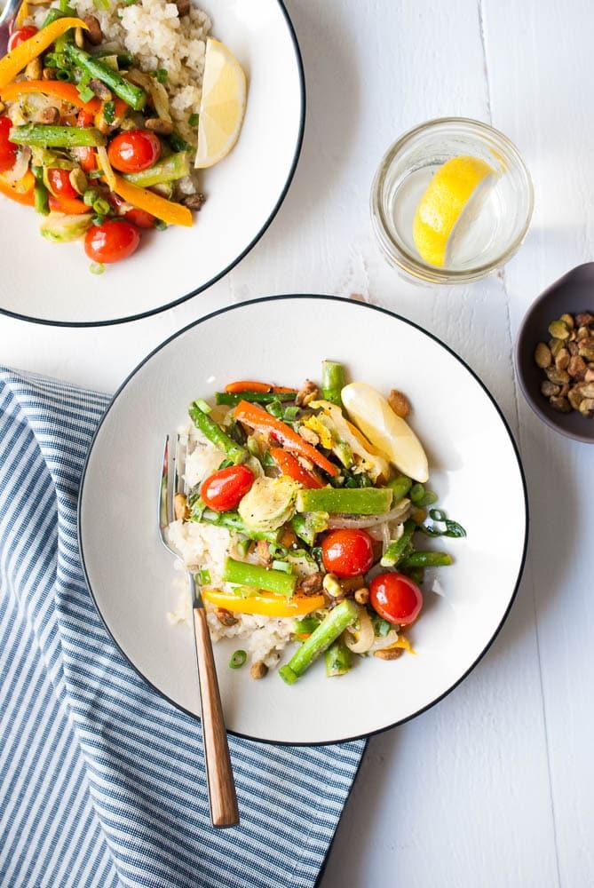 Cauliflower Rice Veggie Bowls-3